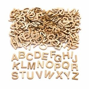 26 Wooden Craft Alphabet Uppercase Letters A-Z & School Educational