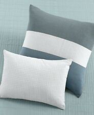 $75 Calvin Klein Cottonwood White Quilted Net-Stone 12x16 Decorative Pillow