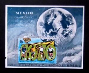 Chad-1970-Football/Soccer-Mexico World Cup-MNH Minisheet