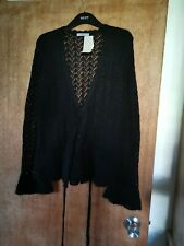 Nwt Ladies Mohair Mix Crossover Wrapover Cardigan Frilled Sleeves Size 16 By M&S
