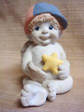 1993 Dreamsicles by Kristin Baseball Cherub w/ Star & Mitt & Cap Rare & Retired