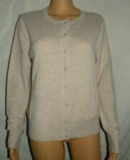 LORD & TAYLOR 100% Cashmere Beige/Cream Cardigan Sweater Petite PL FREE SHIP