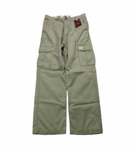 Vintage Levis Cargo Loose Straight Mens Size 34 X 34 Khaki Twill Pants