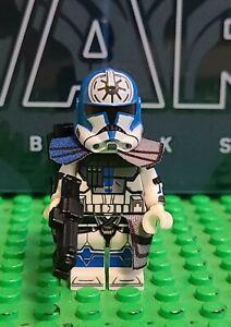 Custom LEGO Star Wars Arc Trooper Jesse Fives 501st Clone Trooper 75002 75004