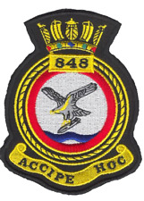 848 NAS Naval Air Squadron Royal Navy FAA Crest MOD Embroidered Patch