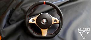 Steering Wheel Alfa Romeo 159 TI Brera Flat Bottom New Leather
