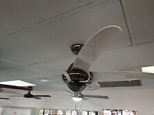 "Vento Uragano 54"" indoor fan white blades and gun metal body with remote"