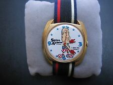 Vtg 1ORIGINAL Spiro Agnew Dirty Time Co Watch NEW Old Stock NON WORKING Wind Up