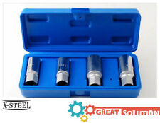"4pc Cr-V 1/2"" Dr. Socket Type Stud Extractor Screw-up & Pull-up Kit: 6-8-10-12mm"