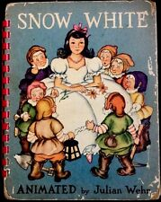 SNOW WHITE ~ Rare 1940's Julian Wehr Animated Movable Children's Pop Up Book