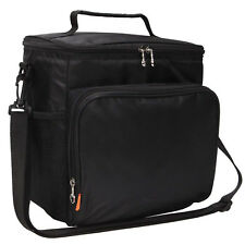 Large Insulated Lunch Cooler Bag Travel Men Adulds Lunch Box Bag Tote Black