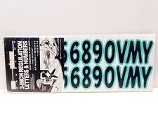 """NOS Vintage 3"""" Identification Numbers & Letters Kit - Boat Jet Ski Wave Runner g"""