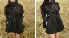 Black Waist Hidden Fasten Hip Length Hoodie Outdoor Coat UK8 NEW TAG