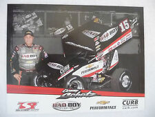 2015 DONNY SCHATZ 8 1/2 X 11 WORLD OF OUTLAWS SPRINT CAR DRIVER PHOTO CARD