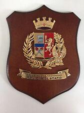 """Crest in legno POLIZIA DI STATO """"ASSOCIAZIONE NAZIONALE"""" crest of wood"""