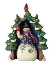 Enesco Jim Shore Heartwood Creek Snowman and Tree Mini Set New # 4060313