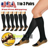 Copper Knee High Compression Socks - Men Women Running Medical Pregnancy Travel