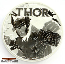 2018 1oz Thor Silver Marvel Series 1 ounce Silver Bullion Coin unc: