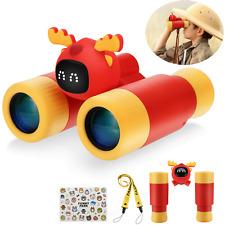 Kids Binoculars Shockproof Telescope Gift Toy for Outdoor Bird Watching,Travel