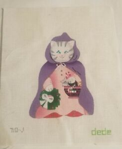 Christmas Kitty Hand Painted Needlepoint Canvas Dede 710-J 24 Count B11