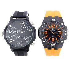 2 x NEW Joshua & Sons JS-46-01 Men's Analog Swiss Quartz Orange/Black Watch Set