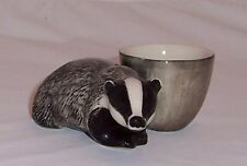 QUAIL Badger with Egg Cup