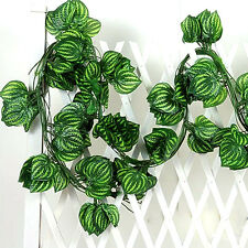 Realistic Fake Ivy Leaves Leaf Vine Green Foliage Plant For Home Garden DecorXTY
