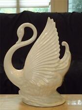 Vintage White Swan Planter TV Lamp Maddux of California