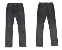 Nudie Skinny Lin Tinte Schwarzem Denim Damen Jeans W28 L32
