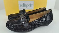 New W/ Box Softspots Womens Size 6 W Peron Black Suede Slip On Shoes, Ships Fast