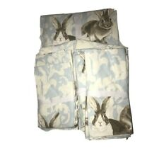 "Easter Bunny Set Tablecloth Napkins Towels Williams Sonoma  70"" x 108"" Cotton"
