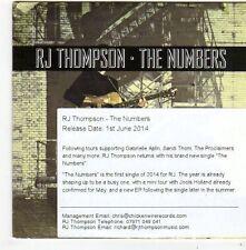 (FG116) RJ Thompson, The Numbers - 2014 DJ CD