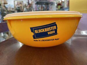 Vintage Tupperware 1990's Blockbuster Video popcorn bowl w lid
