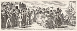 Possible effects of over female emigration, George Cruikshank etching, Australia