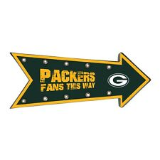 Green Bay Packers Arrow Marquee Sign - Light Up - Room Bar Decor NEW 18""