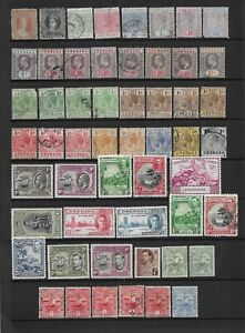 7 scans-Collection of mixed MINT & good used Grenada stamps & Mini Sheets.