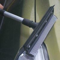 Extendable Rubber Window Cleaning Squeegee & Sponge For Windshield J6Z0