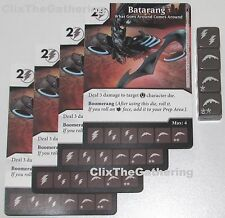 4x BATARANG: WHAT GOES AROUND COMES AROUND 4/124 Batman Dice Masters DC