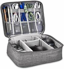 Electronic Accessories Organizer Cases Travel Cable Cord Pack Storage Bag Grey
