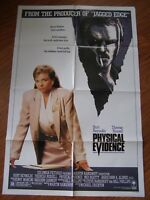Vtg Movie Poster 1 sheet Physical Evidence 1988 Burt Reynolds, Theresa Russell