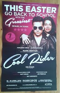 """12.5x20"""" Cool Rider Easter poster Duchess Theatre 2014 Aaron Sidwell"""