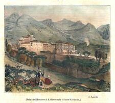 1840 - Sicilia - Palermo - Xilografia acquerellata - Poliorama Pittoresco