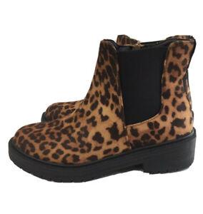 Madden Girl Leopard Chelsea Boot-Alphha 6 combat Chunky Sole Grunge Punk 80s 90s
