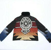 HEIRLOOMS HARLEY DAVIDSON Zipper Jacket Coat Women's Size S