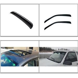3pcs Vent Shade Window+Sun/Moon Roof Visors Fit Express/Savana/Kodiak/Topkick