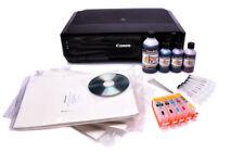 EDIBLE PRINTER KIT - refillable cartridges, edible ink, 50 wafer paper,templates