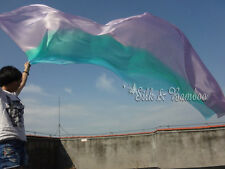 """Pastel colors: purple-pink-green-turquoise 3yd*45"""" 5mm belly dance silk veil+bag"""
