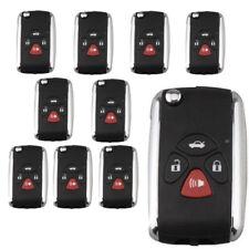 10PCS Uncut Remote Flip Key Shell Replace fit for Toyota Matrix Avalon Camry 4BT