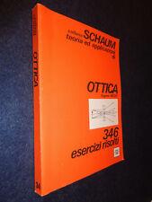 OTTICA 346 ESERCIZI RISOLTI-HECHT-ETAS LIBRI-COLLANA SCHAUM-G13- FL