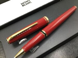 Montblanc Generation Collection Rollerball Pen c1990 Red Gold Trim MINT w/ Box